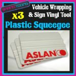 SIGN VINYL VEHICLE WRAP TOOL PLASTIC SQUEEGEE X3 PACK
